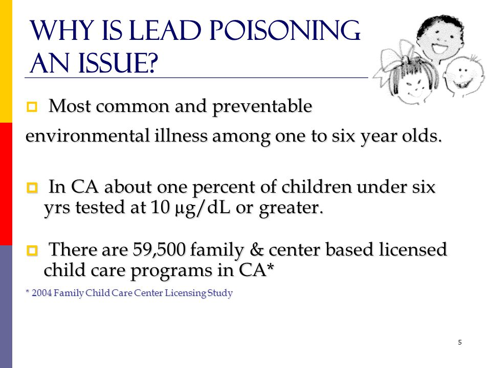5 Why is lead poisoning an issue.