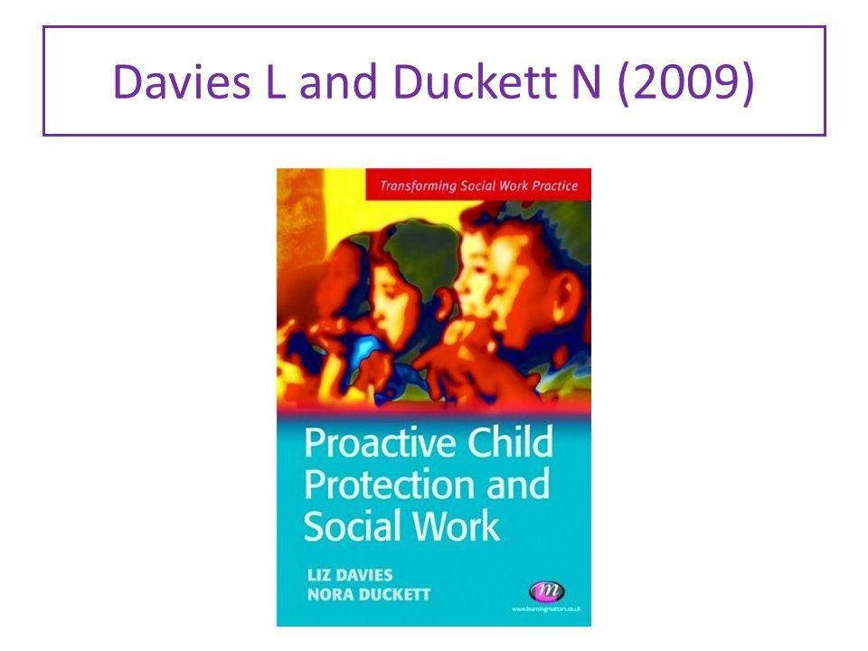 Davies L and Duckett N (2009)