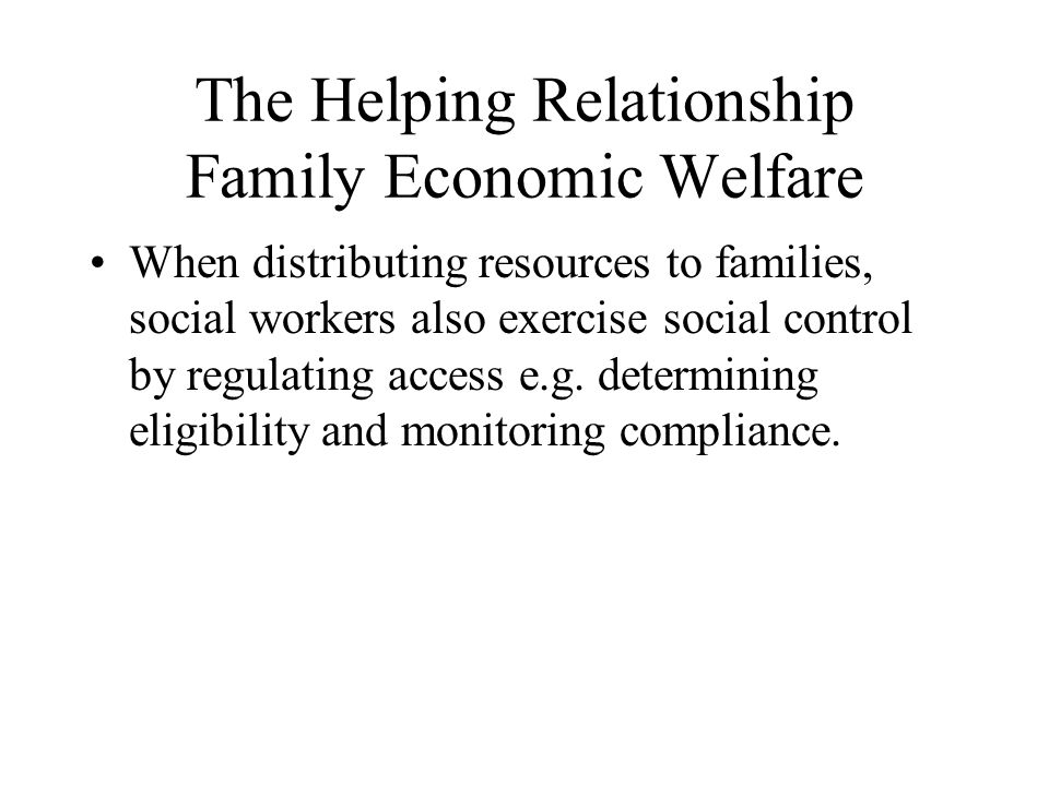 Model One: Family Welfare Causal Hypotheses of Poverty (1)Family Causality :The family, as a primary economic unit, is charged with the responsibility of meeting the basic financial needs of its members (Structure-functional theory).