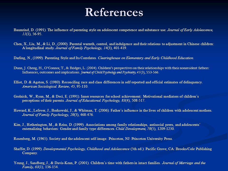References Baumrind, D. (1991).