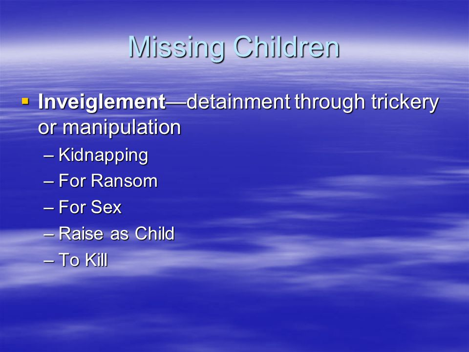 Abused Children and Legal Proceedings  Prevention of further abuse in CJ system  Guardian Ad Litem (GAL)—Child Advocate  Two ways to view abusers: –1.