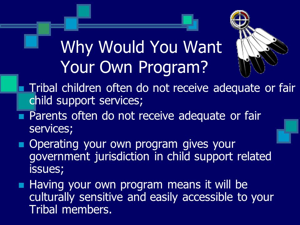 Why Would You Want Your Own Program.