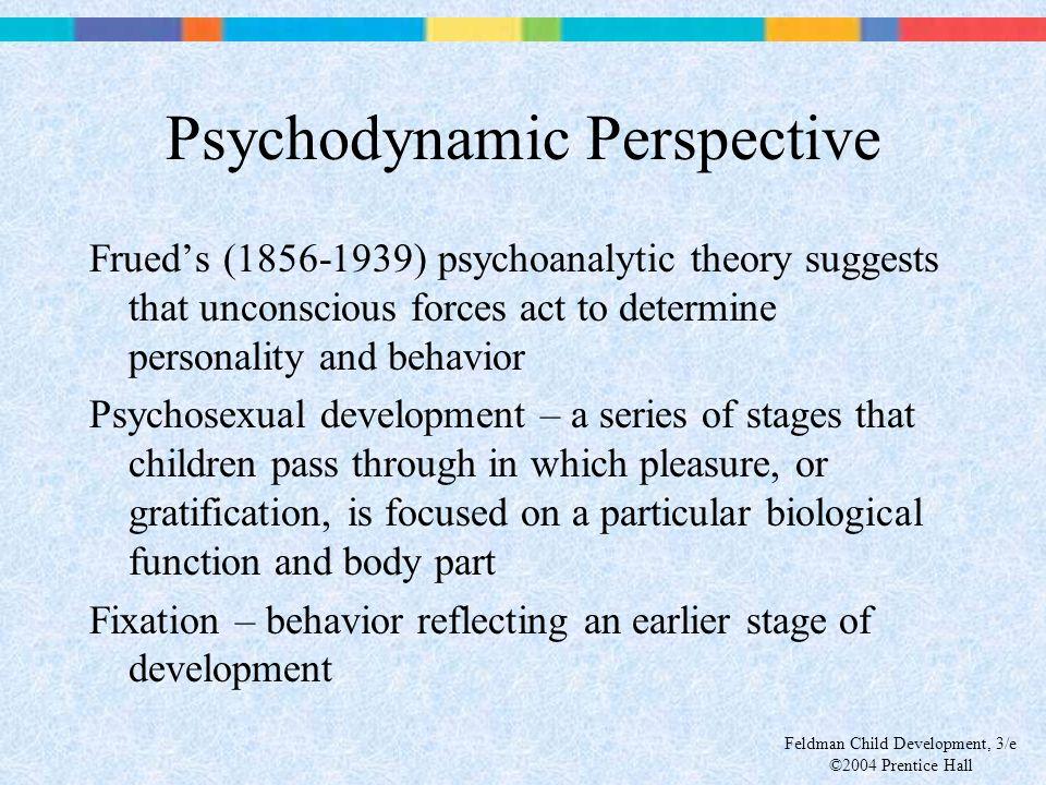 Feldman Child Development, 3/e ©2004 Prentice Hall Psychodynamic Perspective Frued's (1856-1939) psychoanalytic theory suggests that unconscious force