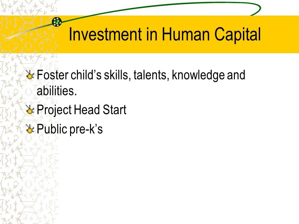 Consumer Service Private Preschools Parent co-ops Some for profit preschools