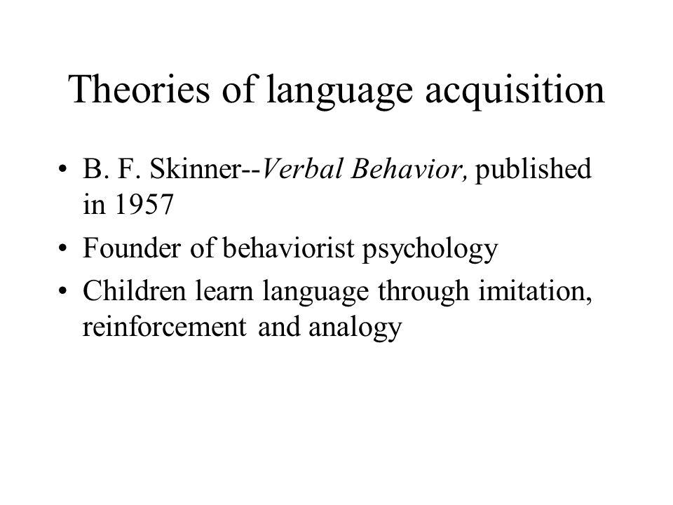 Do children learn language through structured input.