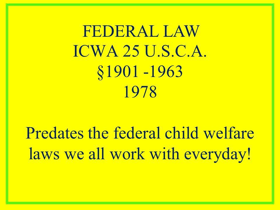 ICWA 25 U.S.C.A.