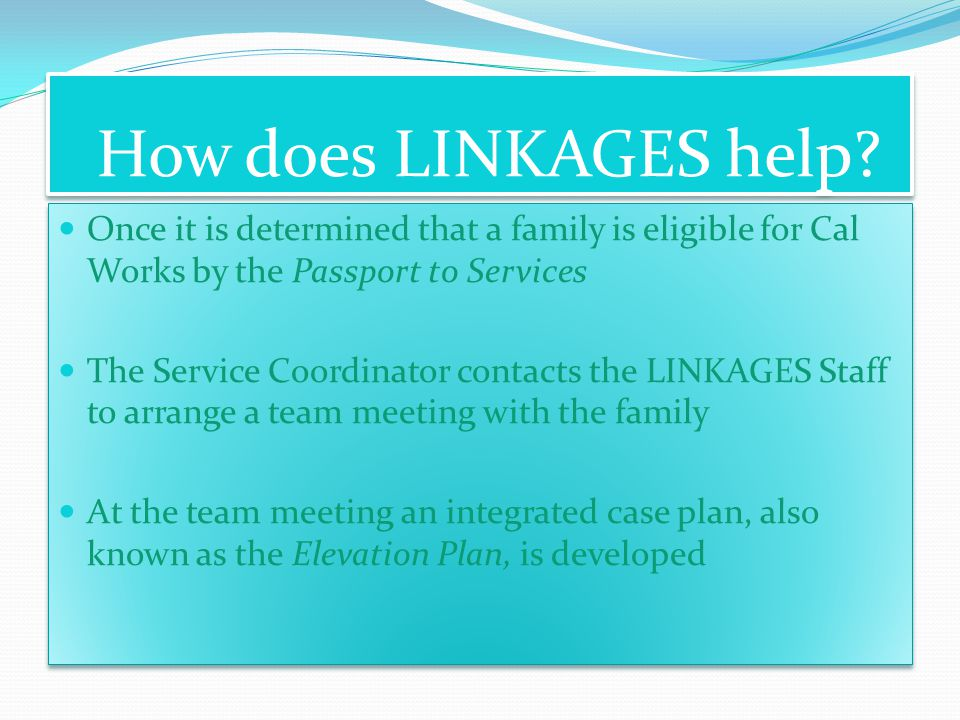 How does LINKAGES help.