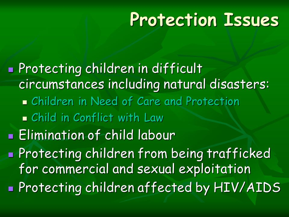 Components of the ICPS Juvenile in conflict with law: Under this component, the Scheme would support setting up: State Child Protection Unit State Child Protection Unit Observation Homes Observation Homes Special Homes Special Homes Aftercare Homes Aftercare Homes Juvenile Justice Boards (JJBs) Juvenile Justice Boards (JJBs) Special Juvenile Police Units (SPJU) Special Juvenile Police Units (SPJU)