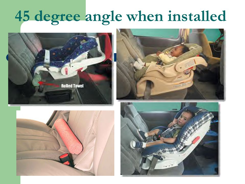 45 degree angle when installed