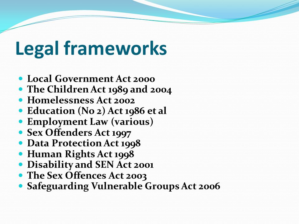 the education act 2002 In the united kingdom information held under section 142 of the education act 2002 (formerly known as list 99 ) was not primarily concerned with child protection,.