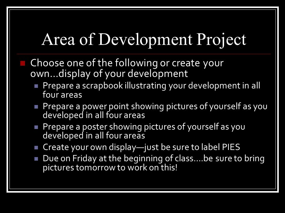 Checking Your Understanding  Growth picture frame—draw a mirror or picture frame on a poster. Divide it into four sections (PIES). Write four words o