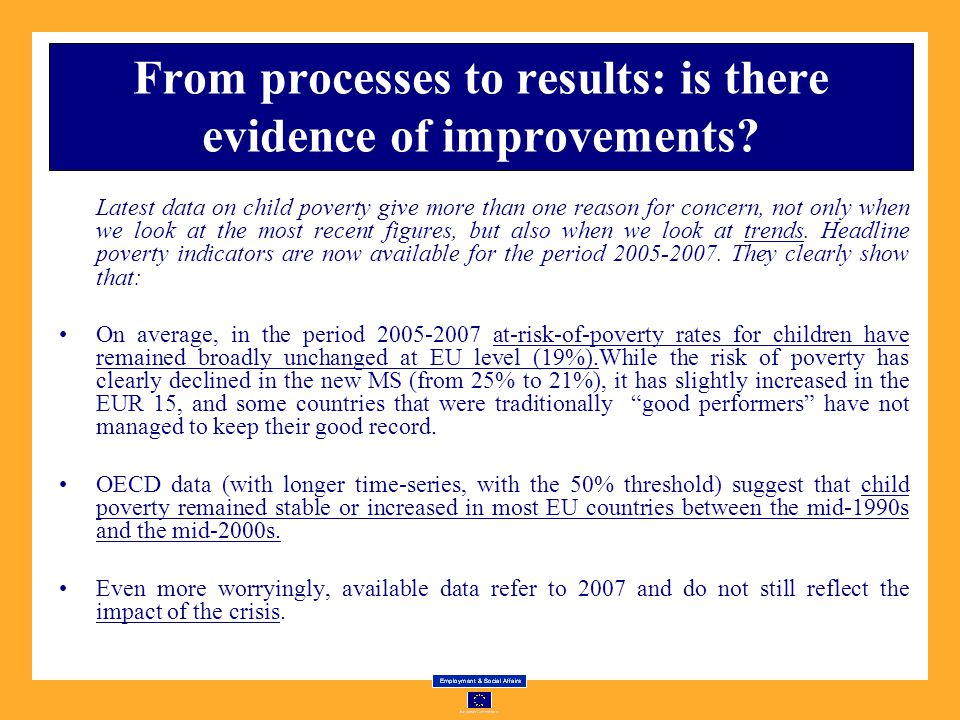 From processes to results: is there evidence of improvements.