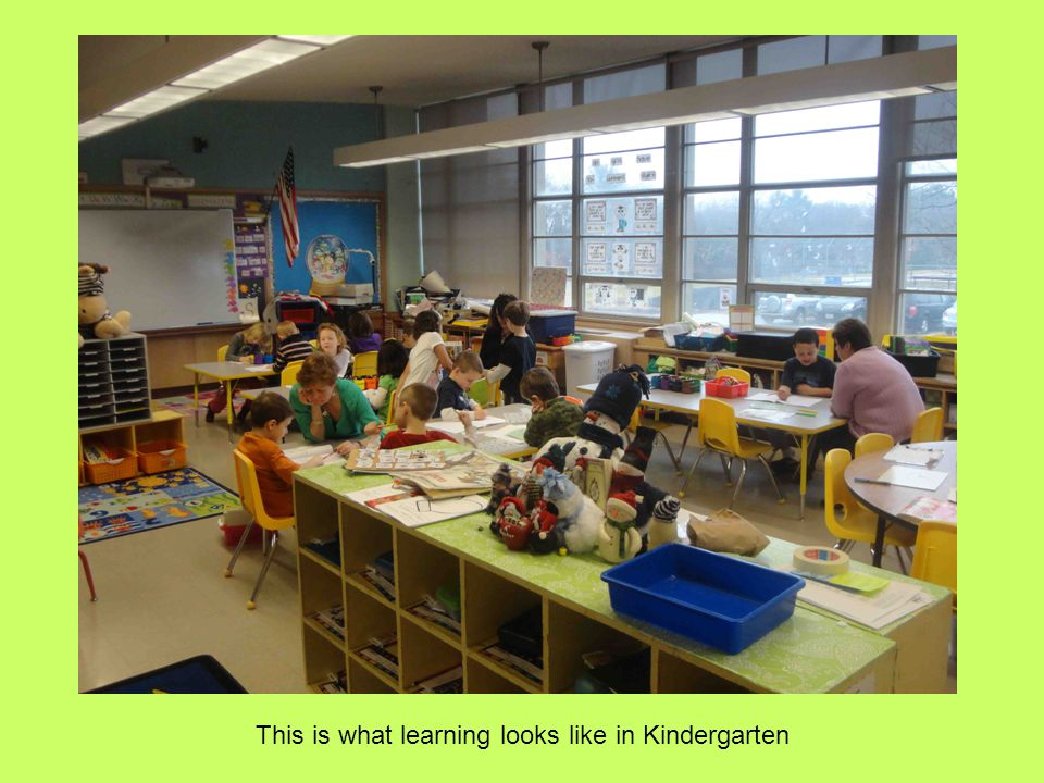 This is what learning looks like in Kindergarten