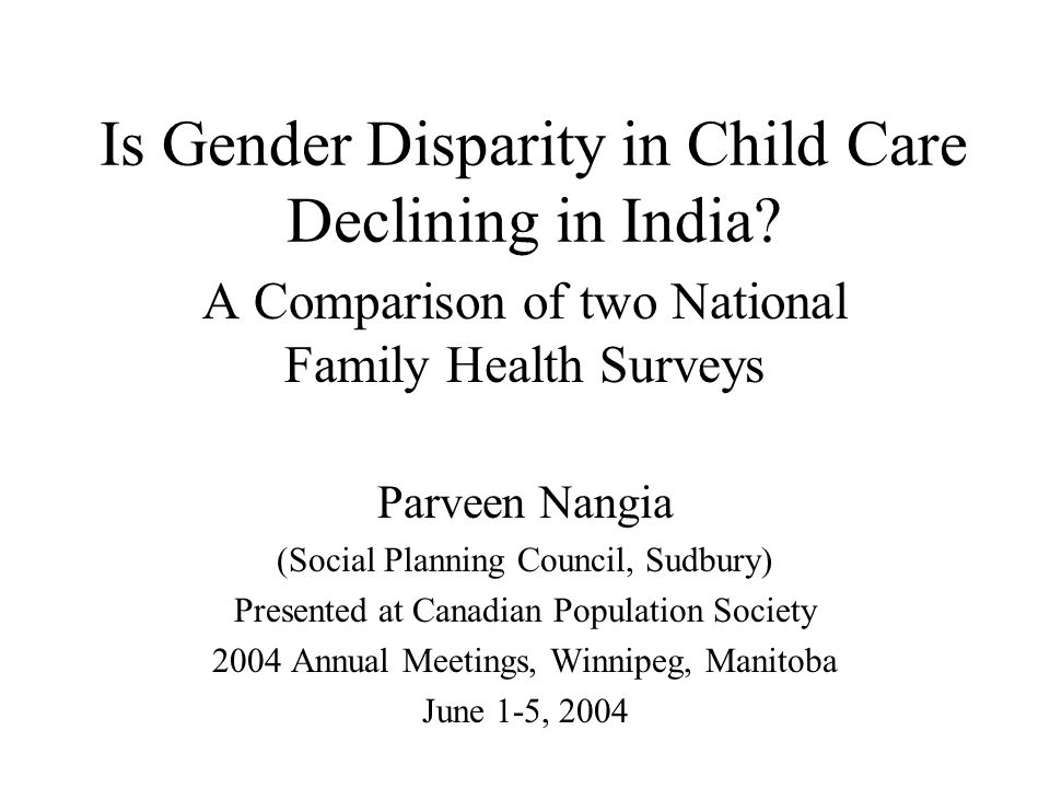 Is Gender Disparity in Child Care Declining in India.