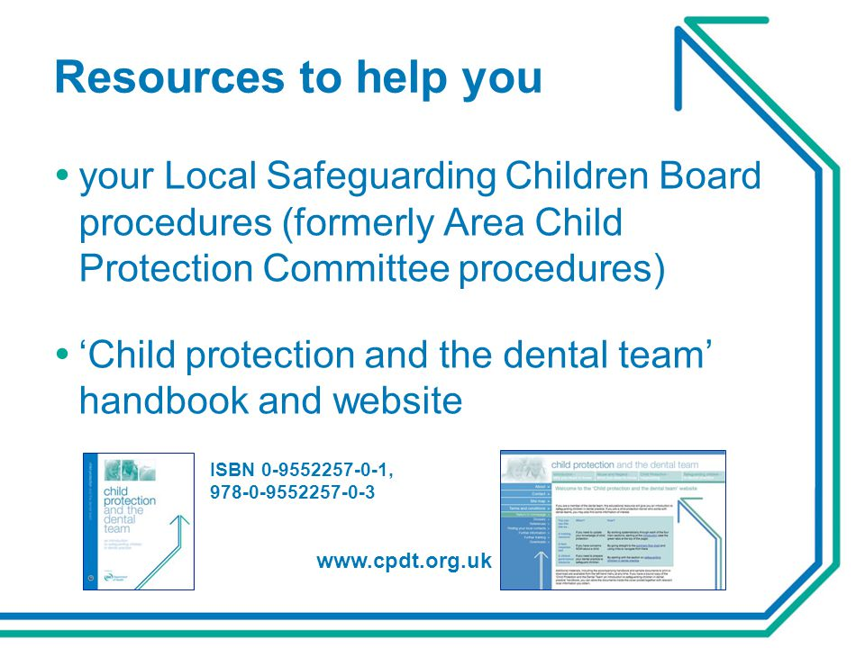 Resources to help you  your Local Safeguarding Children Board procedures (formerly Area Child Protection Committee procedures)  'Child protection an