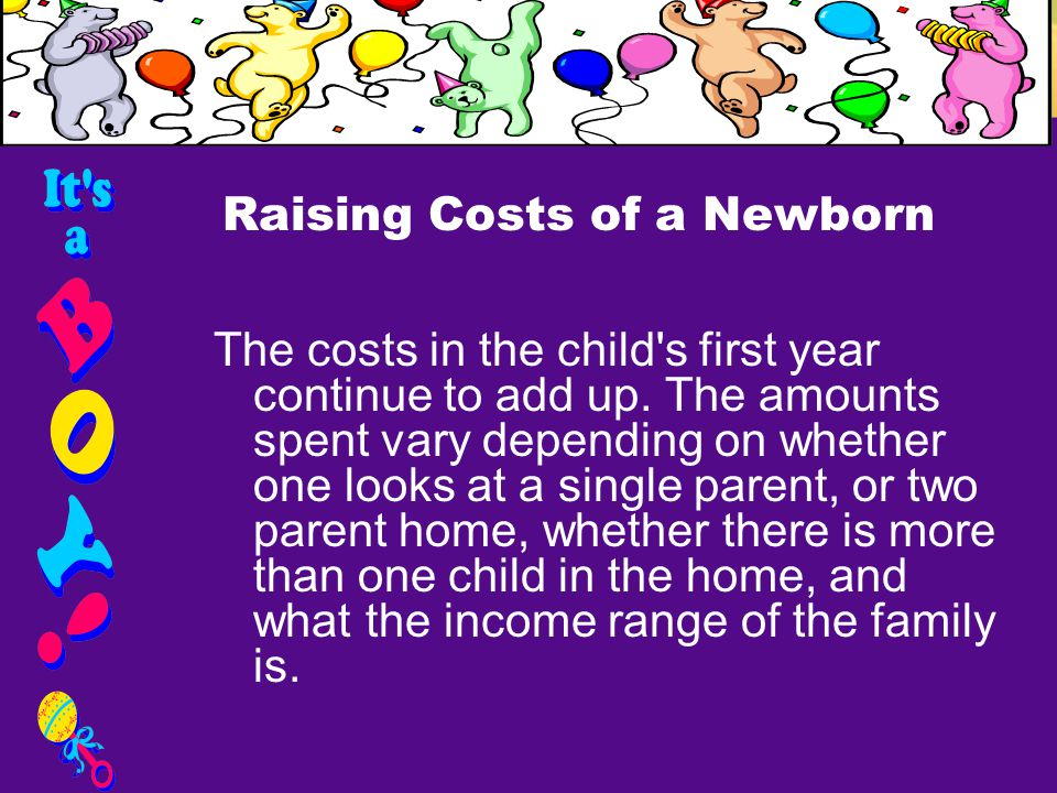 In the first year alone, you can easily spend between $4,000-$6,000 for diapers, formula, baby furniture, clothing, baby gear, etc.