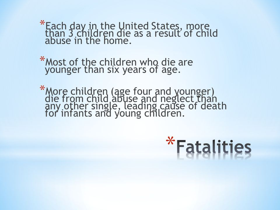 * In 2000, more than 17,000 Utah children were reported to Child Protective Services as alleged victims of child maltreatment.