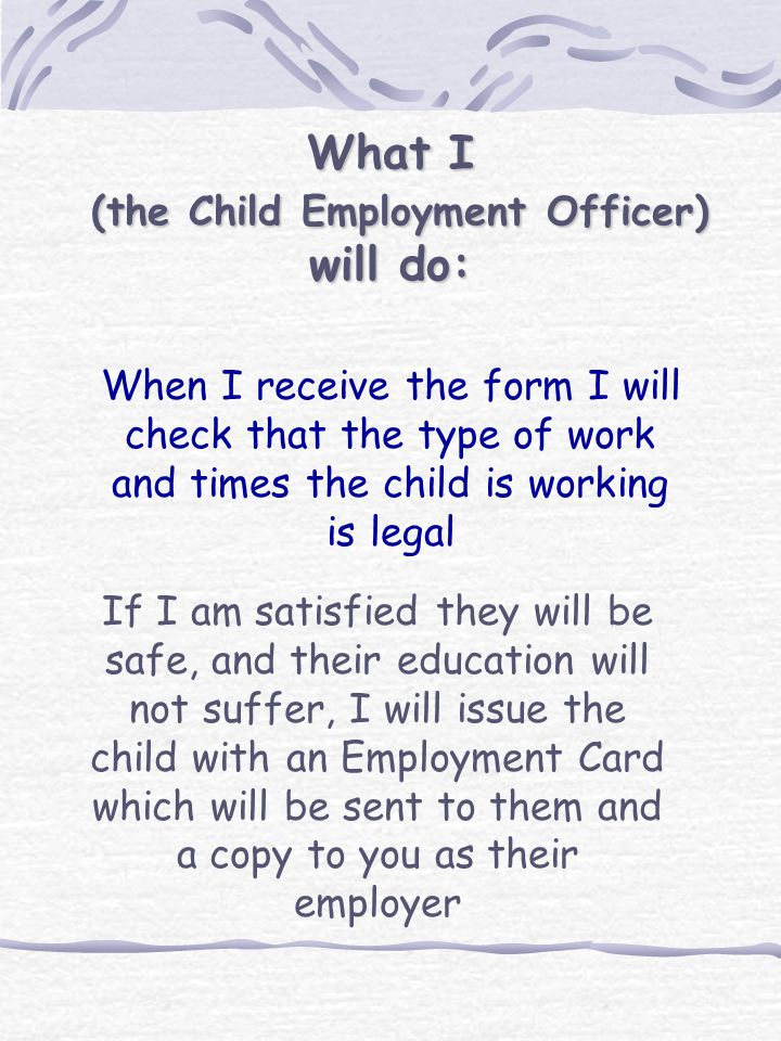 What must the employer do.