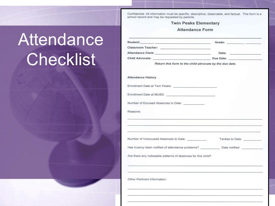 Attendance Checklist