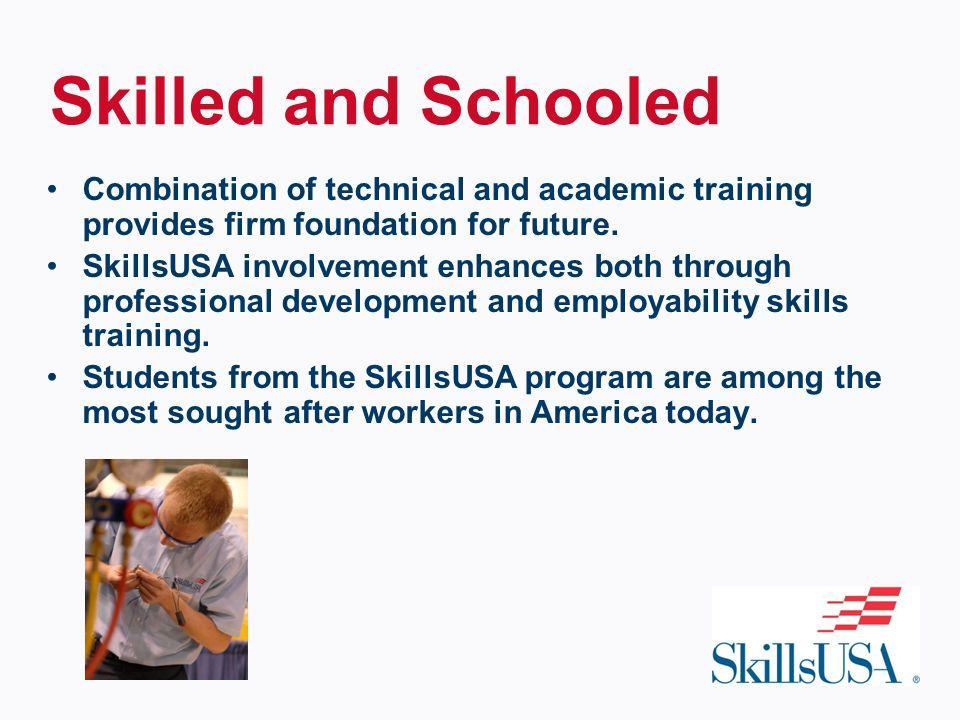 Combination of technical and academic training provides firm foundation for future.