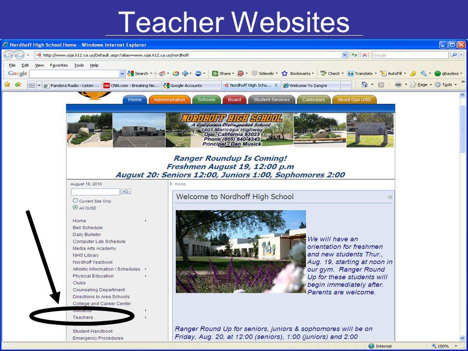 Teacher Websites