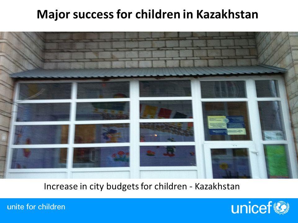 Major success for children in Kazakhstan Increase in city budgets for children - Kazakhstan