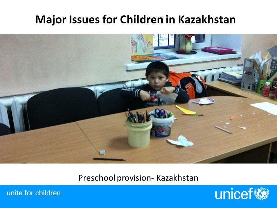 Major Issues for Children in Kazakhstan Preschool provision- Kazakhstan