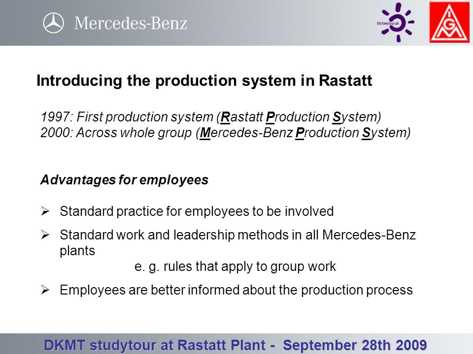 Betriebsrat Werk Rastatt - Betriebsversammlung 3. Quartal 23.09.2008 DKMT studytour at Rastatt Plant - September 28th 2009