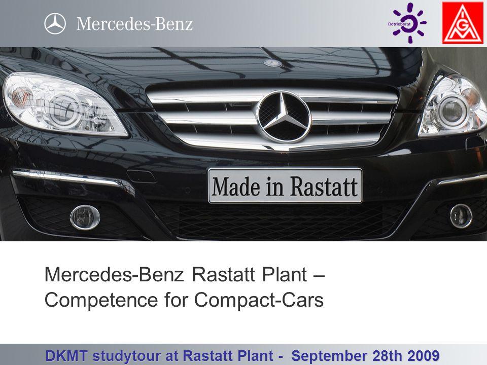 Betriebsrat Werk Rastatt - Betriebsversammlung 3. Quartal 23.09.2008 DKMT studytour at Rastatt Plant - September 28th 2009 Welcome to the Mercedes-Ben