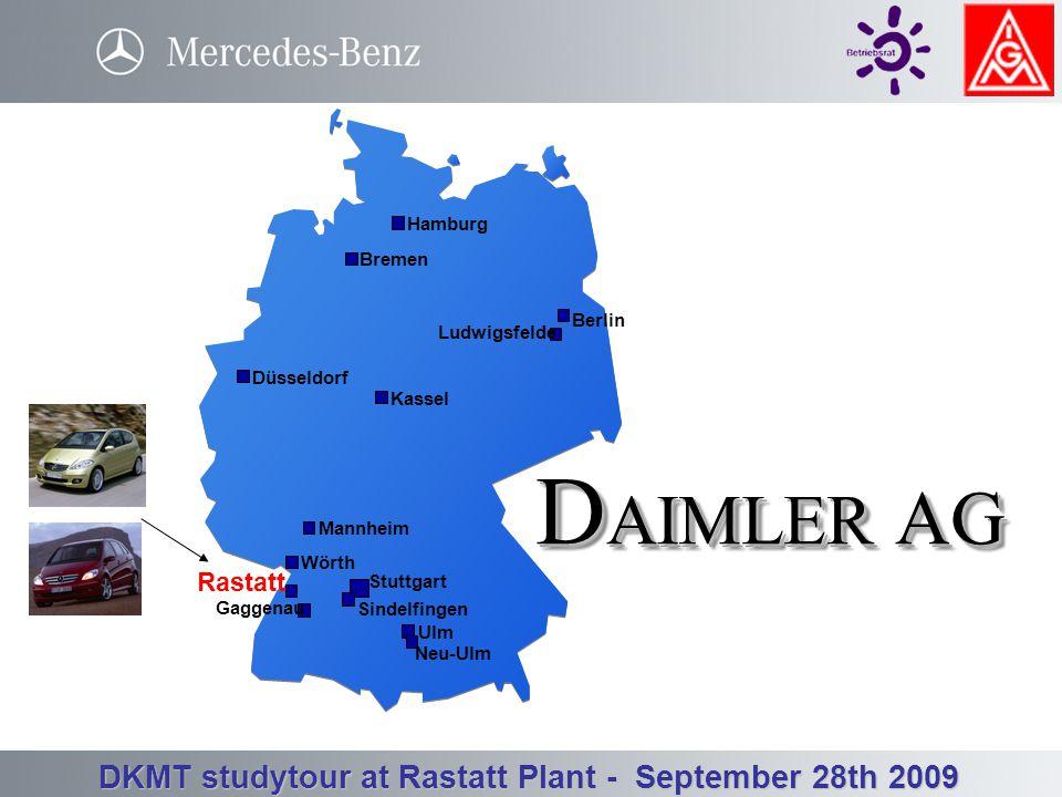 Betriebsrat Werk Rastatt - Betriebsversammlung 3. Quartal 23.09.2008 DKMT studytour at Rastatt Plant - September 28th 2009 Mercedes-Benz Rastatt Plant
