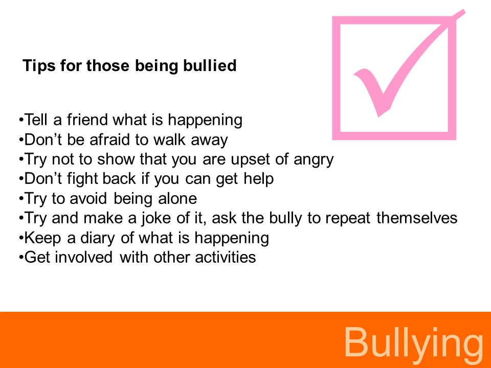 Bullying Issues for parents My child does not feel safe because the bully is still in school.