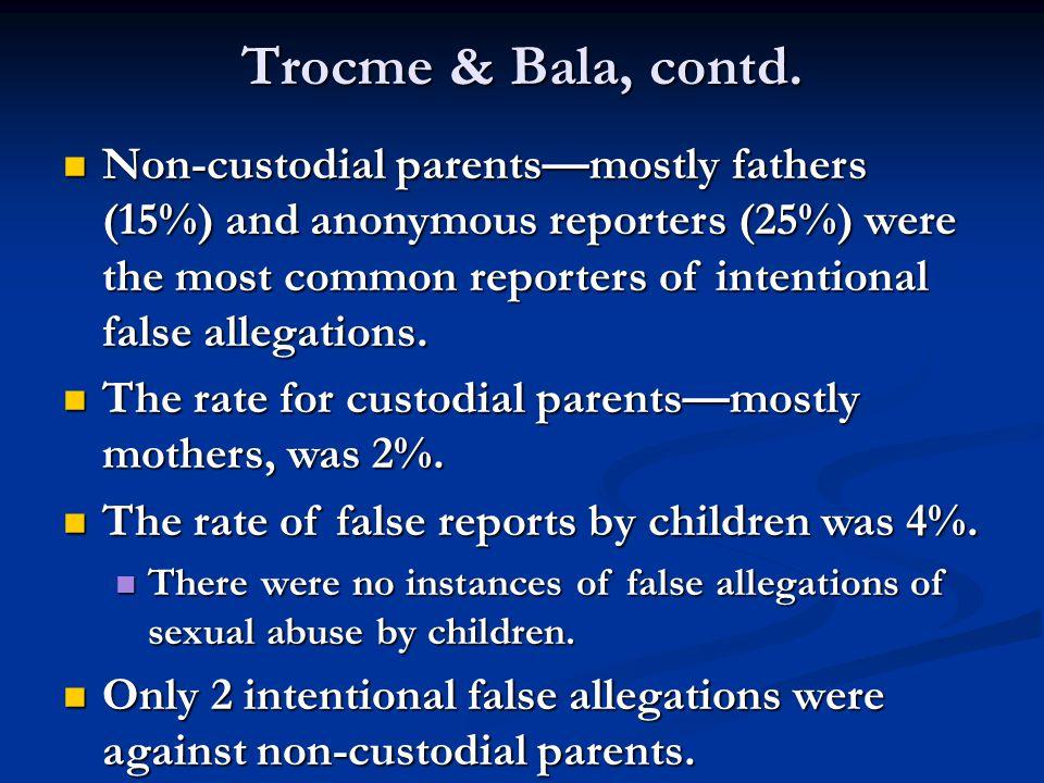 Trocme & Bala, contd.