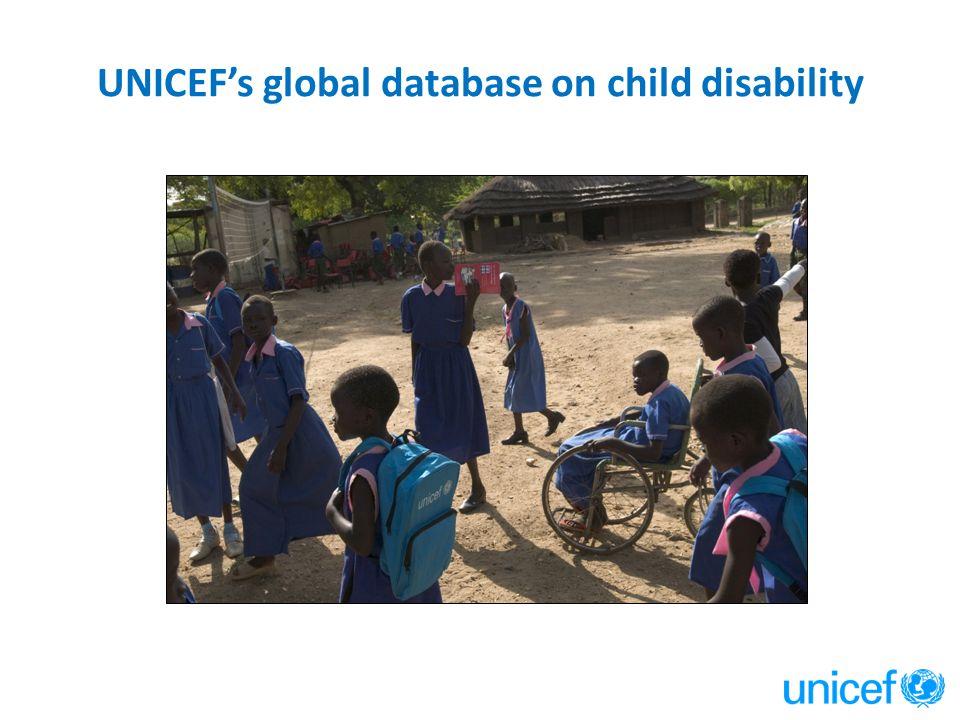UNICEF's global database on child disability