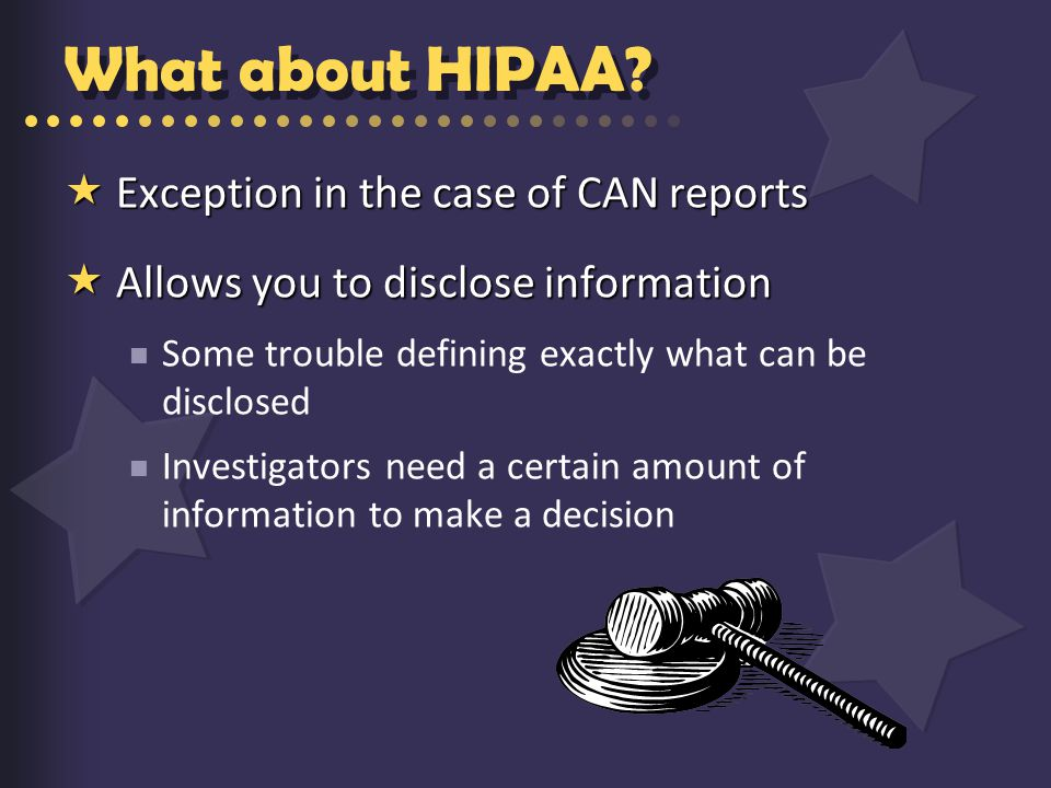 What about HIPAA.