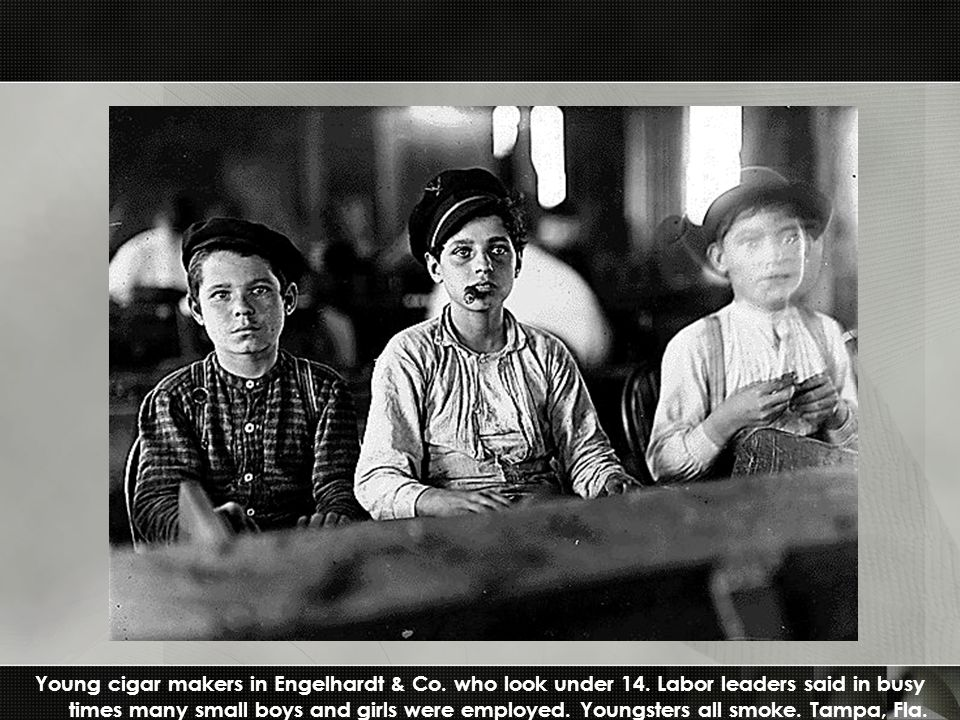 Young cigar makers in Engelhardt & Co. who look under 14.