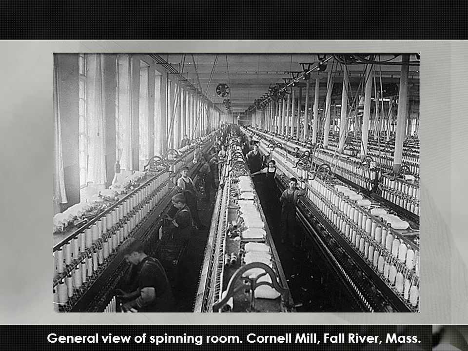 General view of spinning room. Cornell Mill, Fall River, Mass.