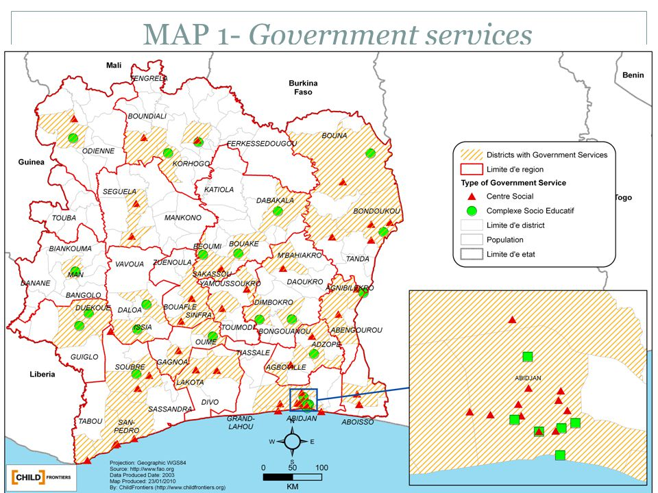 MAP 1- Government services