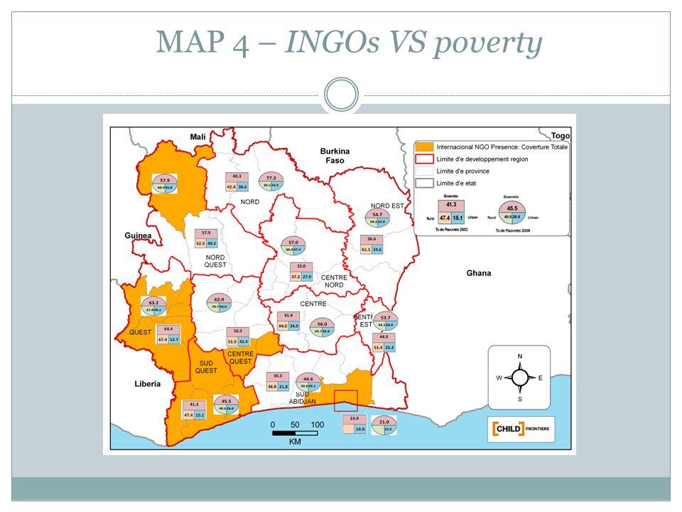 MAP 4 – INGOs VS poverty