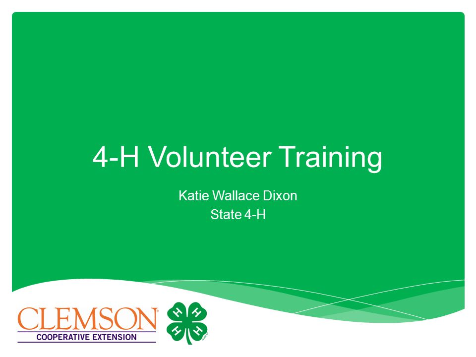 Katie Wallace Dixon State 4-H 4-H Volunteer Training