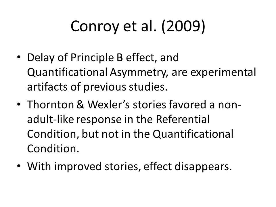 Conroy et al.'s challenge