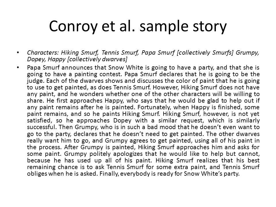 Conroy et al. sample item: