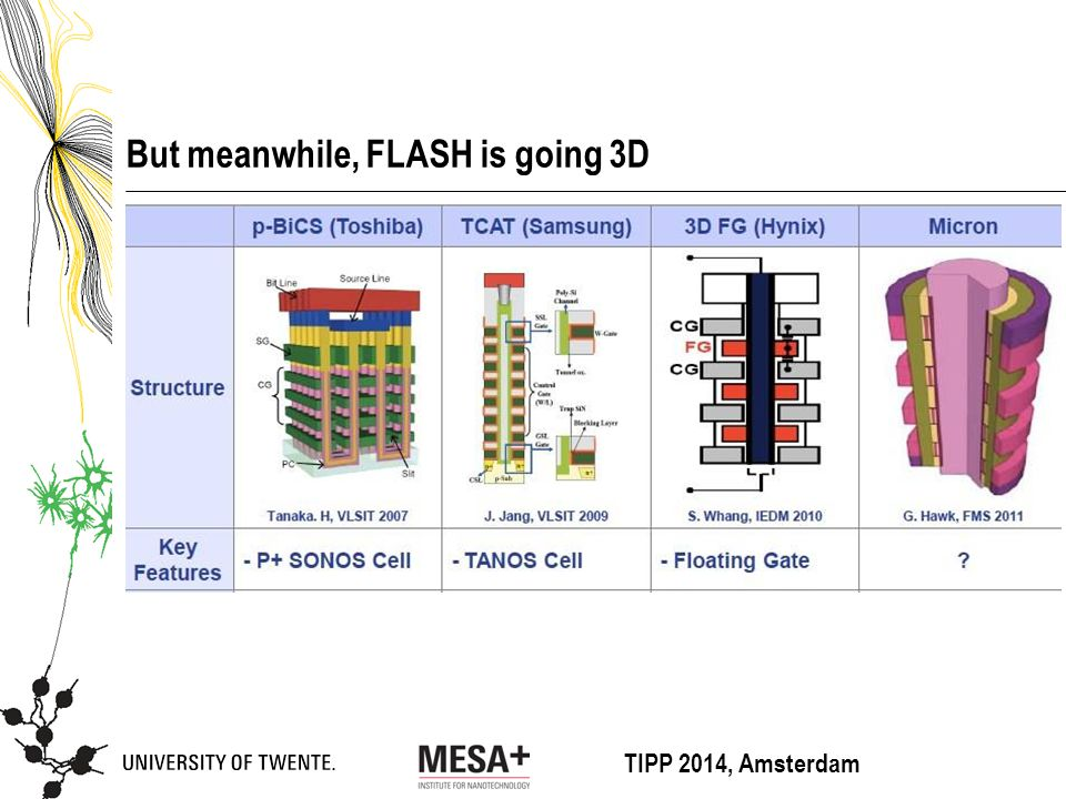 TIPP 2014, Amsterdam But meanwhile, FLASH is going 3D