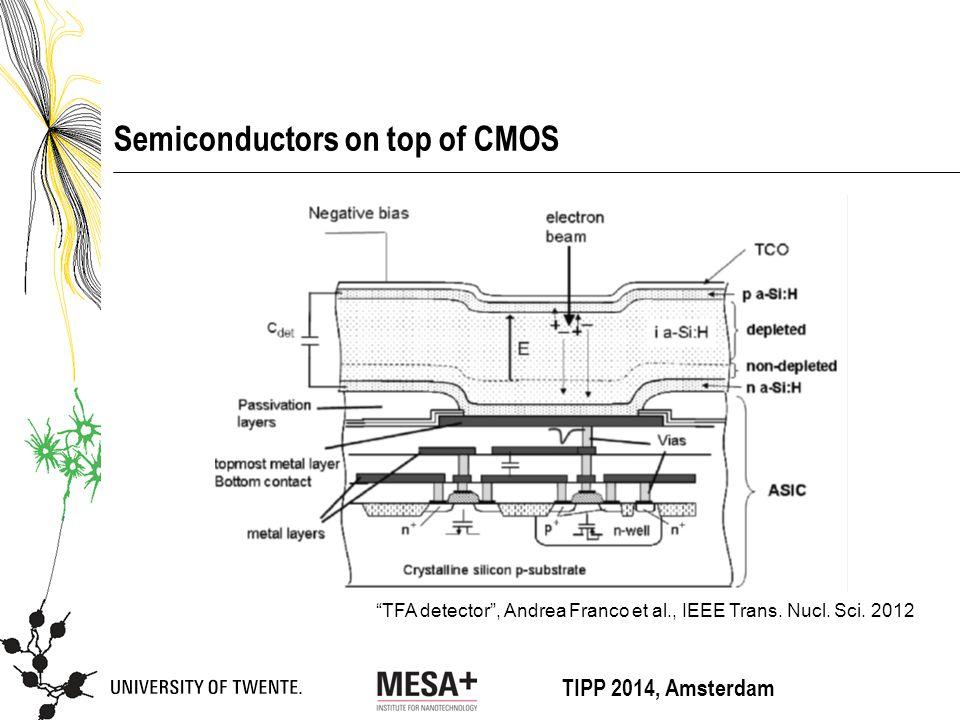 TIPP 2014, Amsterdam Semiconductors on top of CMOS TFA detector , Andrea Franco et al., IEEE Trans.
