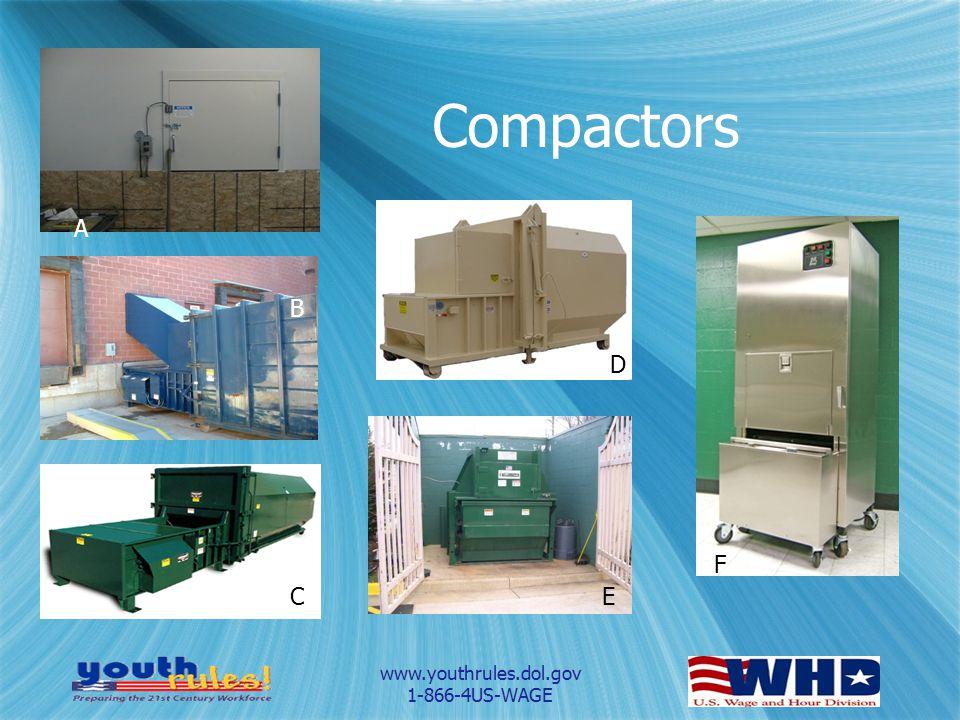 www.youthrules.dol.gov 1-866-4US-WAGE Compactors A B C D E F