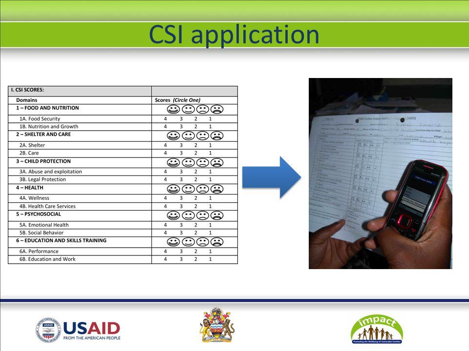 Registration CSI form Main menu Important events Follow up