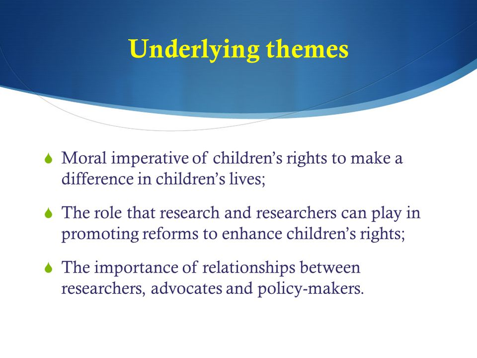 Research Evidence and Policy  Research Vacuum on Child Protection  Welfare rather than surveillance works  Social workers overwhelmed by investigatory functions  Social workers – heavy caseloads, lack of training, lack of rights focus  Early investment cost effective