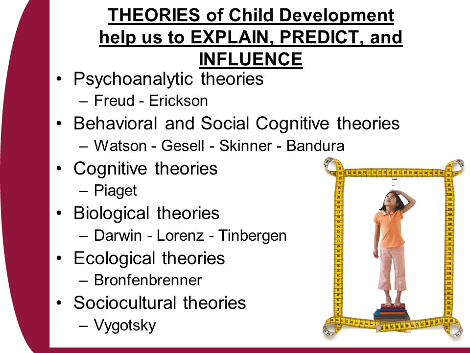 Psychoanalytic Perspective Sigmund Freud's Psychosexual Development Focus on emotional and social development and origins of personality traits Three parts of personality –Id Innate, unconscious, represents biological drives Demands immediate gratification –Ego Curbs the Id Compromises drives with social conventions –Superego Develops throughout infancy and early childhood Monitors the intentions and actions of the Id and the Ego Serves as the conscience and judges right and wrong