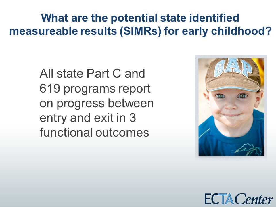 What are the potential state identified measureable results (SIMRs) for early childhood.