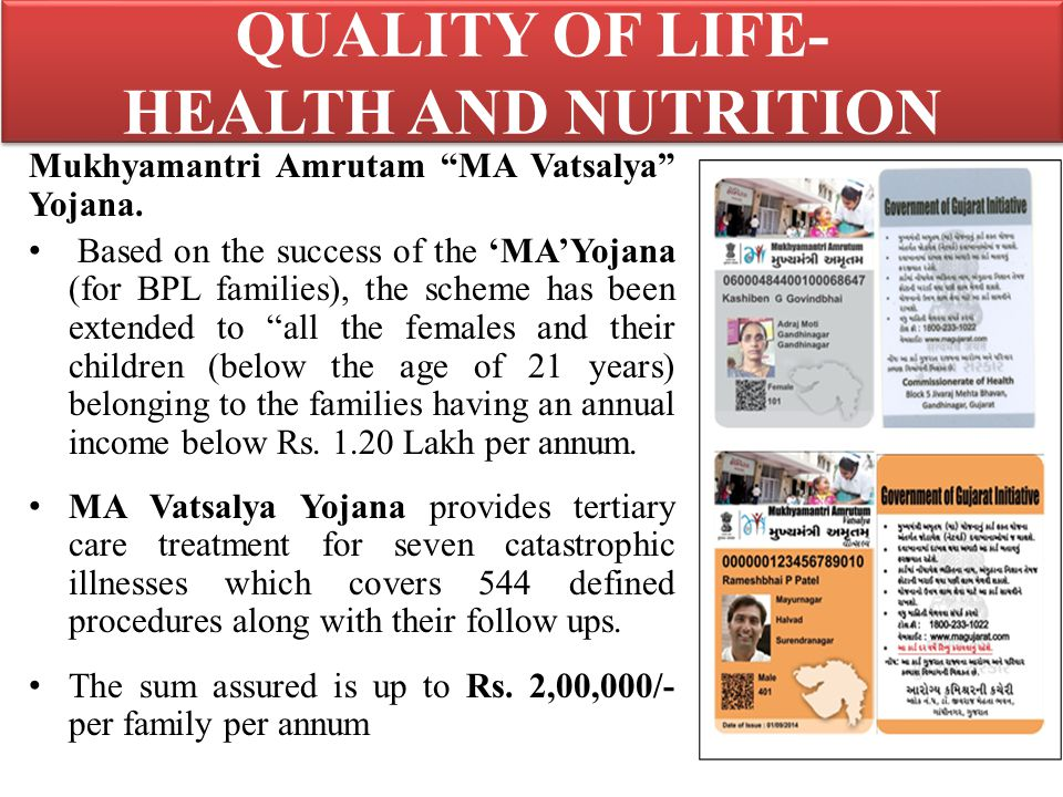 Mukhyamantri Amrutam MA Vatsalya Yojana.