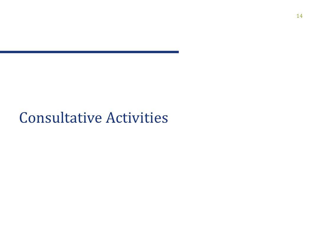 14 Consultative Activities